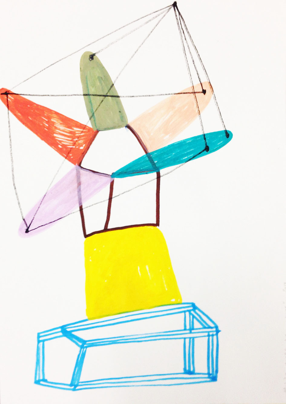 """""""Connections""""Acrylic tusch on paper.29,7 x 21 cm.2014 -"""
