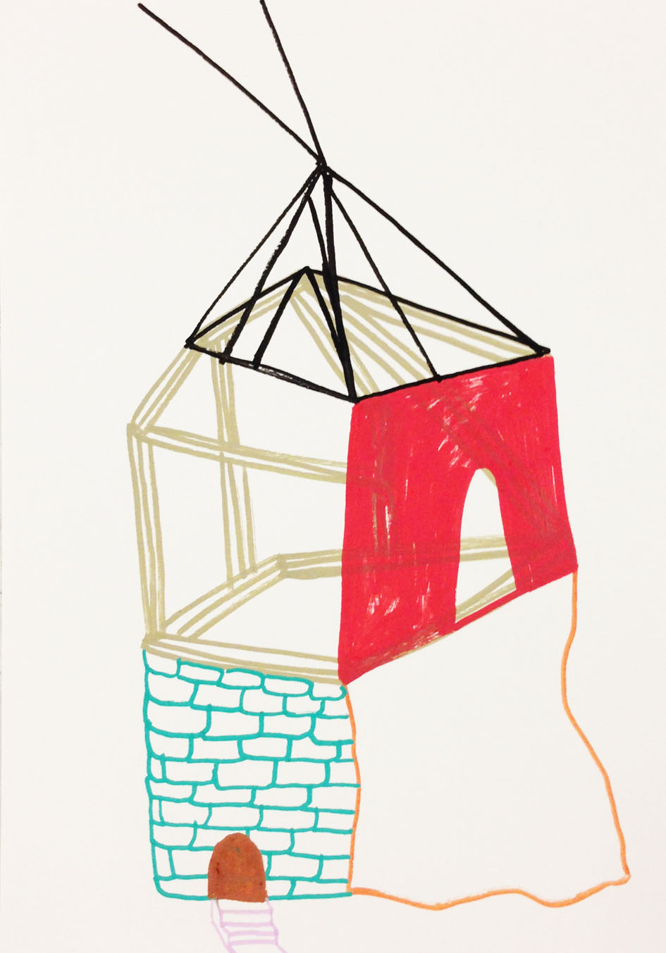 """Hideaway""Acrylic tusch on paper.29,7 x 21 cm.2014 -"