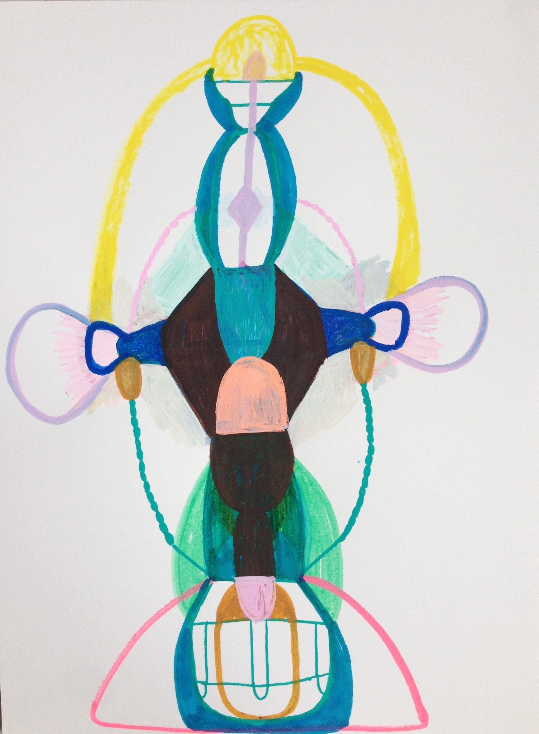 """Marie J.Engelsvold. """"Release"""" 29,7 x 21 cm. Acrylic markers on paper. 2017"""