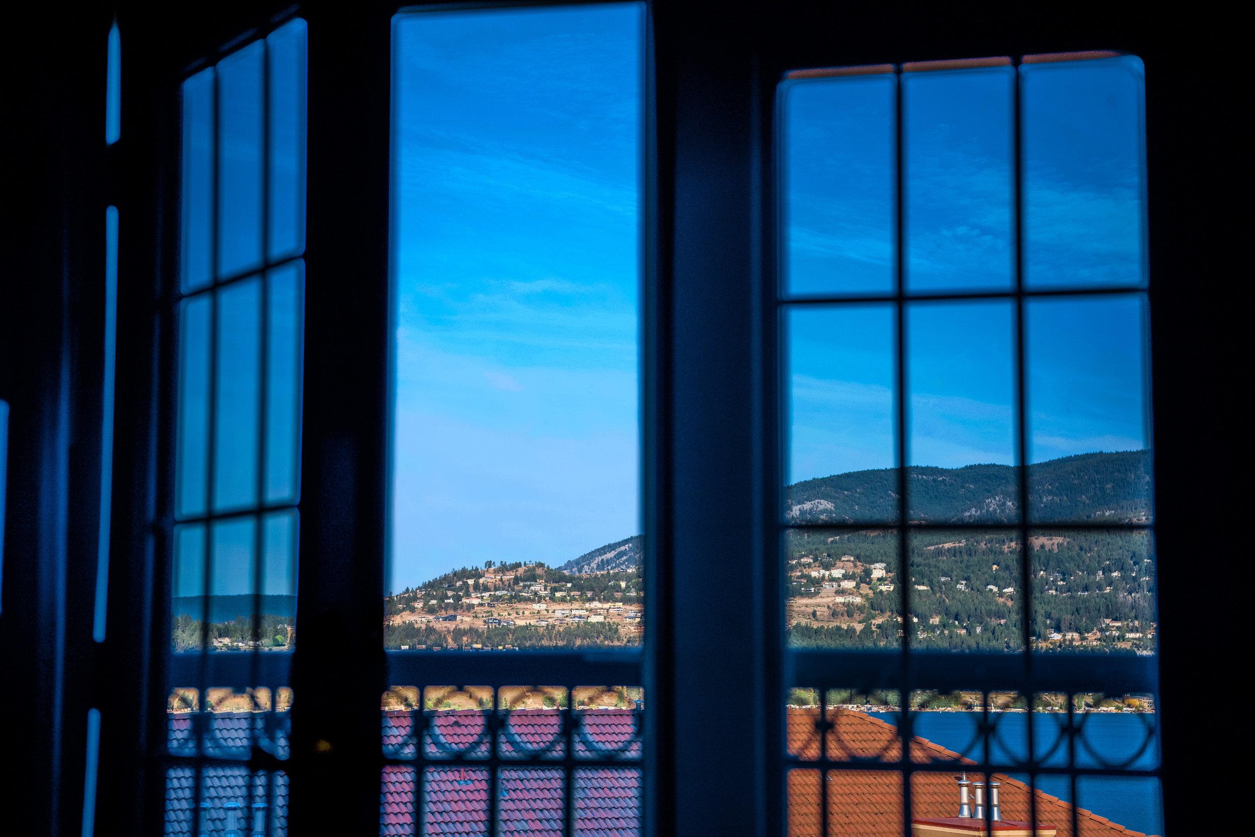 View From Bed - Delta Hotels Grand Okanagan Resort