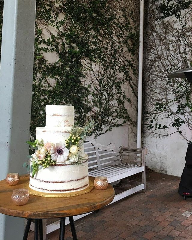 One of our last wedding cakes for the season. #fallweddings #congratulations #nudepastries  Photo credit @ceciliabuttercup