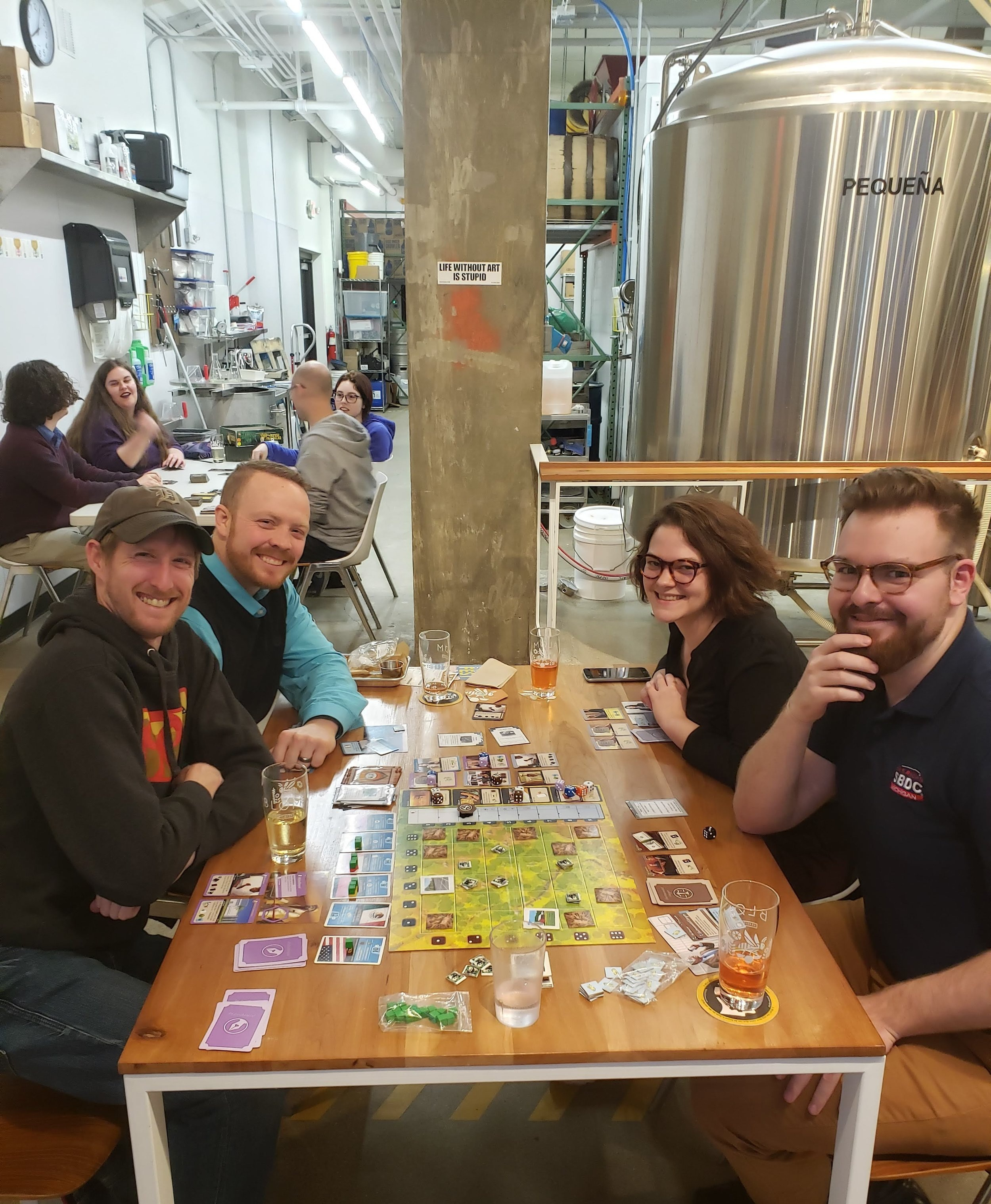Courtesy photo from Spencer Field after meeting over mead at  Blom Meadworks ' public board game night on Thursdays.