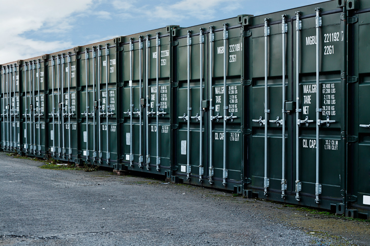 Freight container storage in London