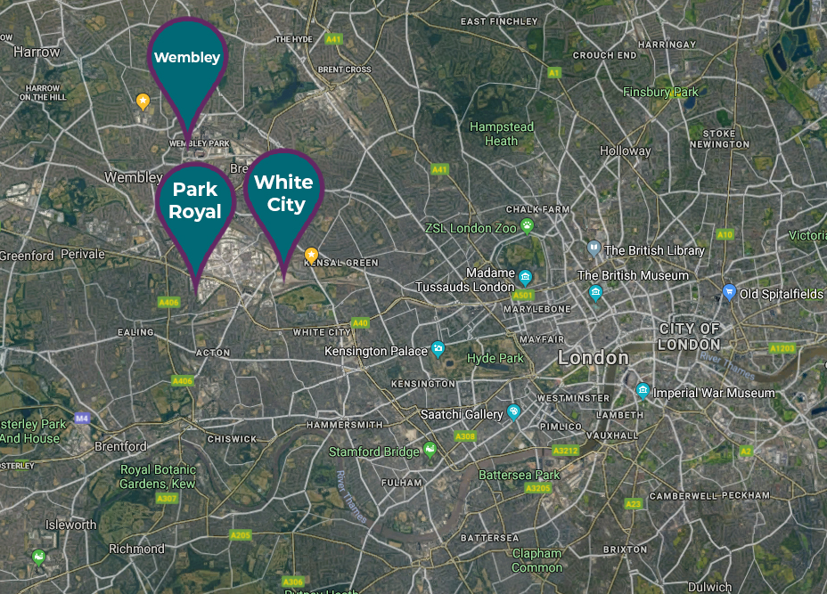 Commercial Property Locations - We have commercial property available across three locations in London: Wembley, White City and Park Royal. Find the one right for you.