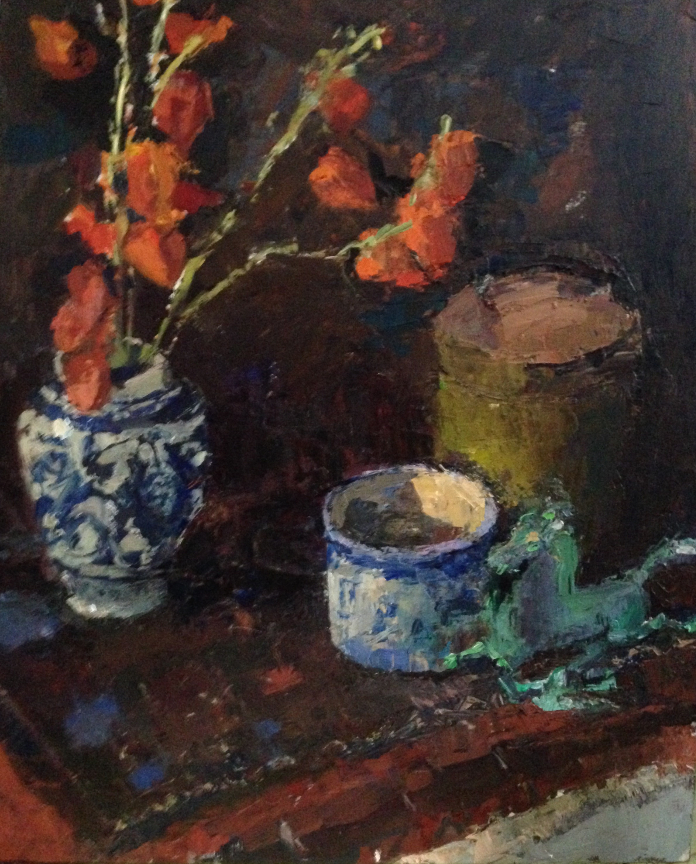 Delft and Lantern Flowers. 2017.