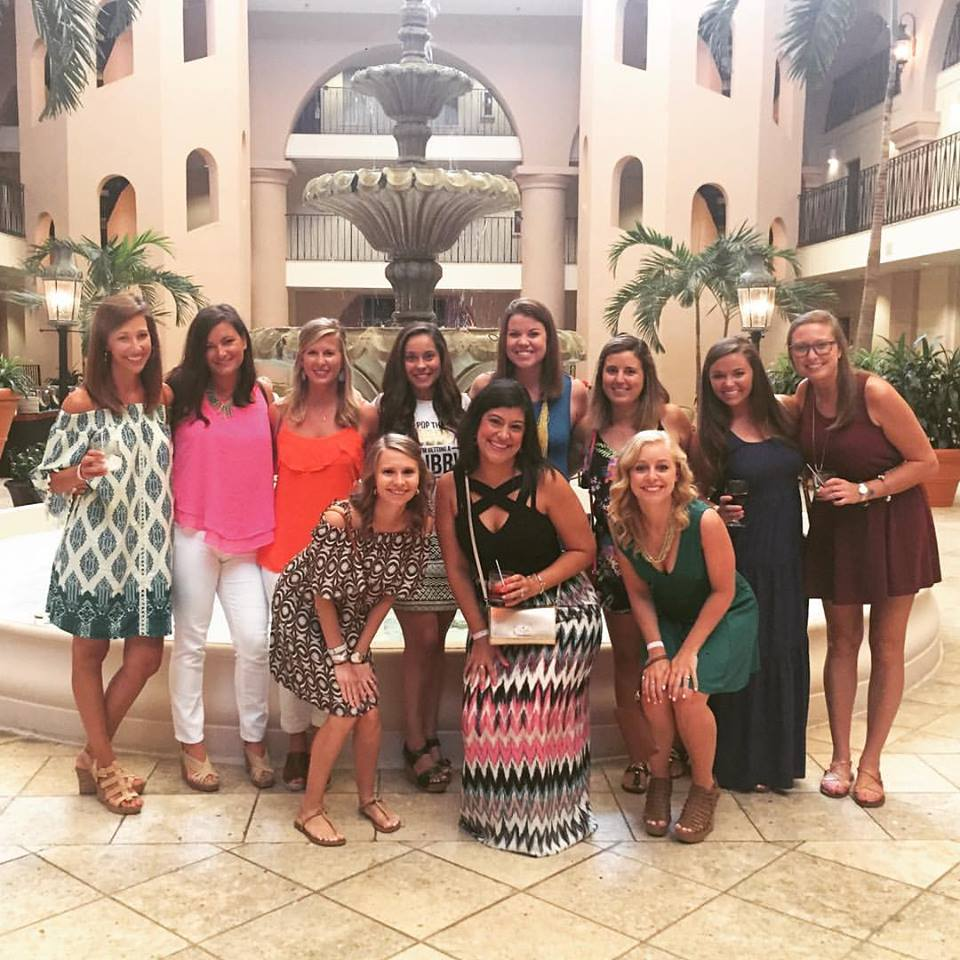 Throwback picture of my Bachelorette party in Charleston. We stayed at the Embassy Suites.