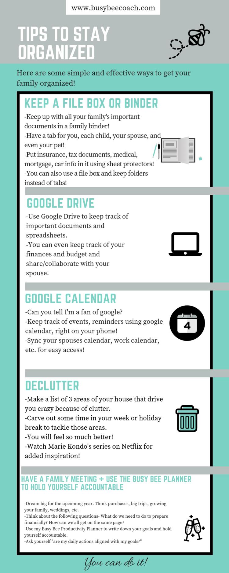 organization tips — Blog — The Busy Bee Productivity