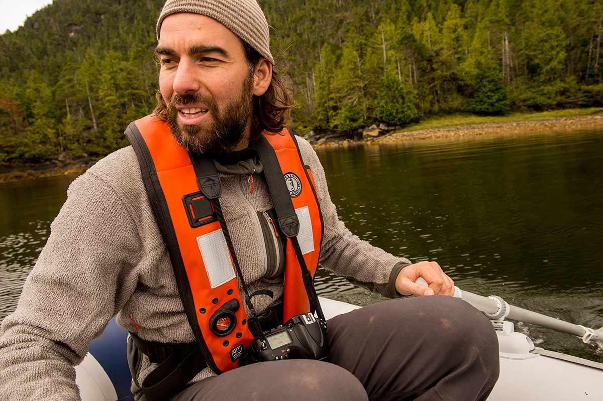 On assignment with Canadian Wildlife Magazine on Burnaby Island, Gwaii Haanas, British Columbia, Canada. Neil Ever Osborne