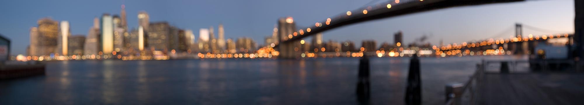 """Brooklyn Bridge '40240' Edition 1/5 30x55"""" Triptych on Plexi"""