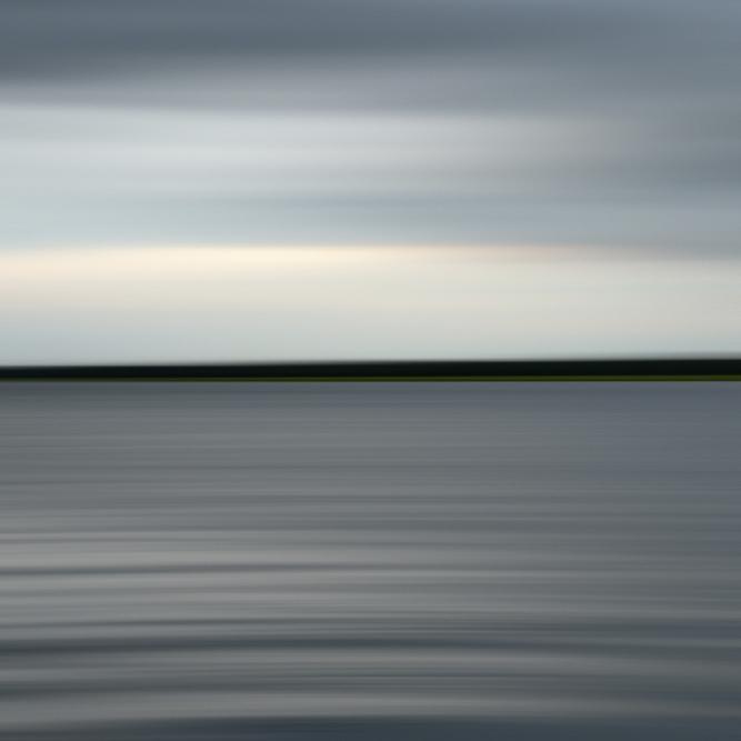 """Stono River '67860' 40x40"""" Edition 1/5 on Plexi in Black Frame"""