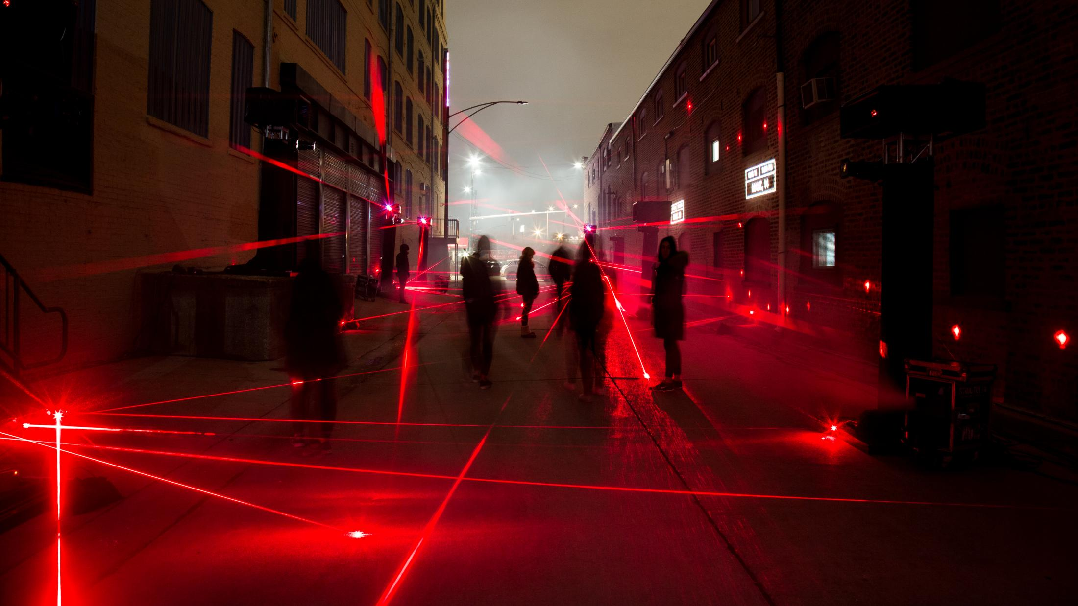 Most Dangerous Street —Lighting and structural elements (Partners: Unit 9 & FCB Chicago)