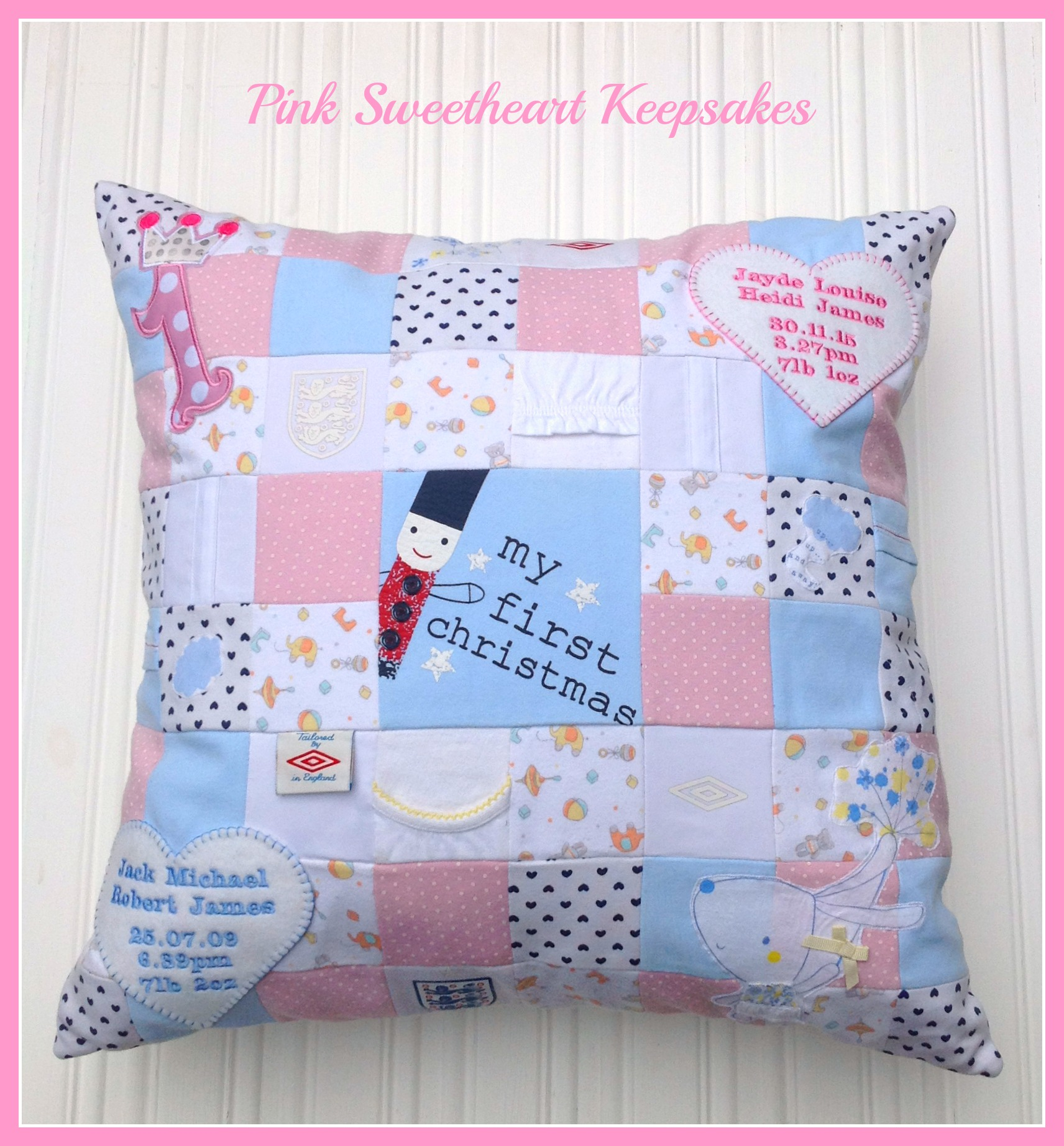 Son & Daughter Patchwork Cushion
