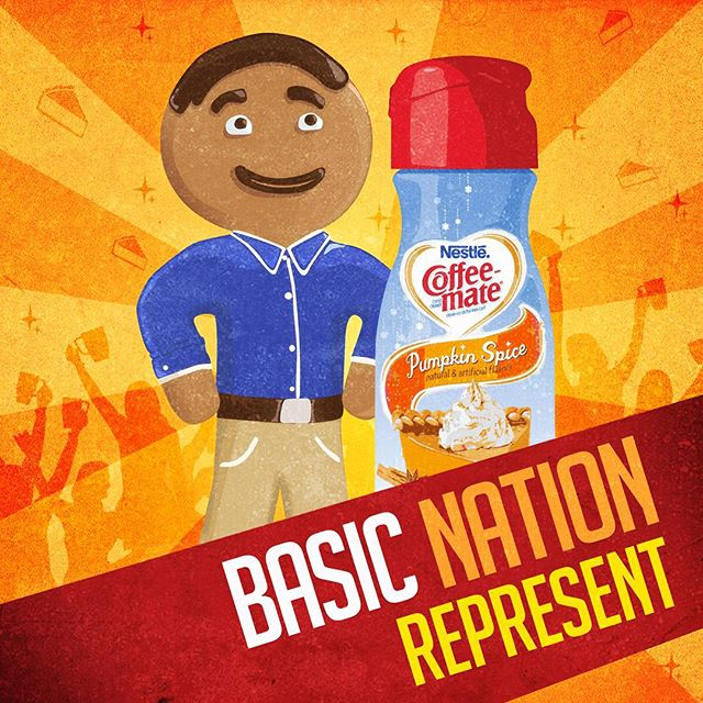 """They can call us """"basic!"""" But they'll never take our PUMPKIN SPICE! #GingerbreadJoel"""