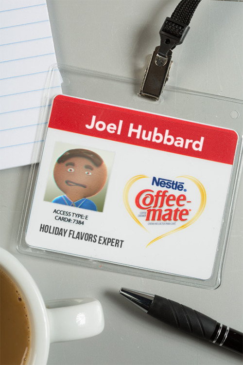 BEST JOB EVER/worst ID picture ever. I love what I do as a Holiday Flavors Expert at Coffee-mate, but it's clear the camera doesn't exactly love me. Hey, at least the security guys and I got a good laugh out of it. #GingerbreadJoel