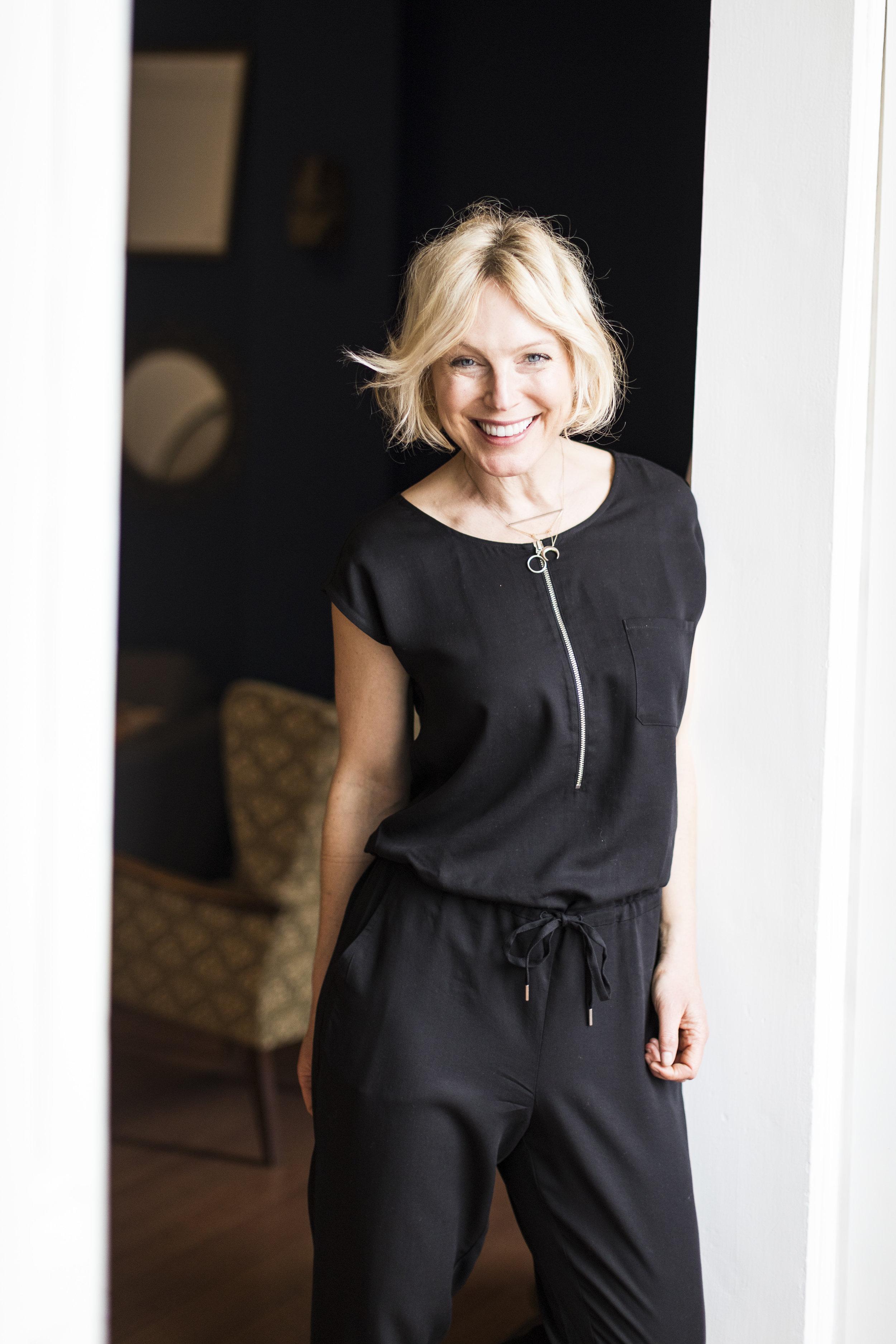 Liz wears the  Gia Jumpsuit