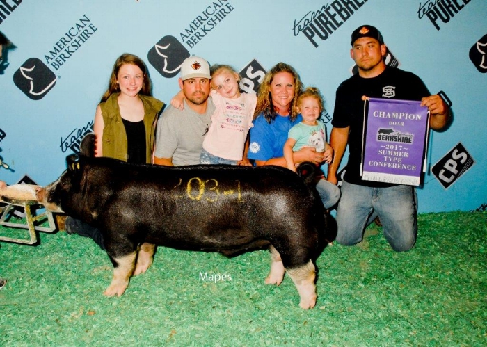Champion Berkshire Boar – 2017 Summer Type Conference