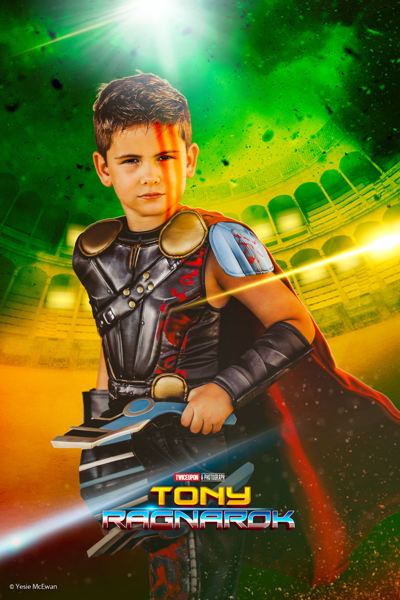 Inspired by one of the Thor: Ragnarok movie posters.
