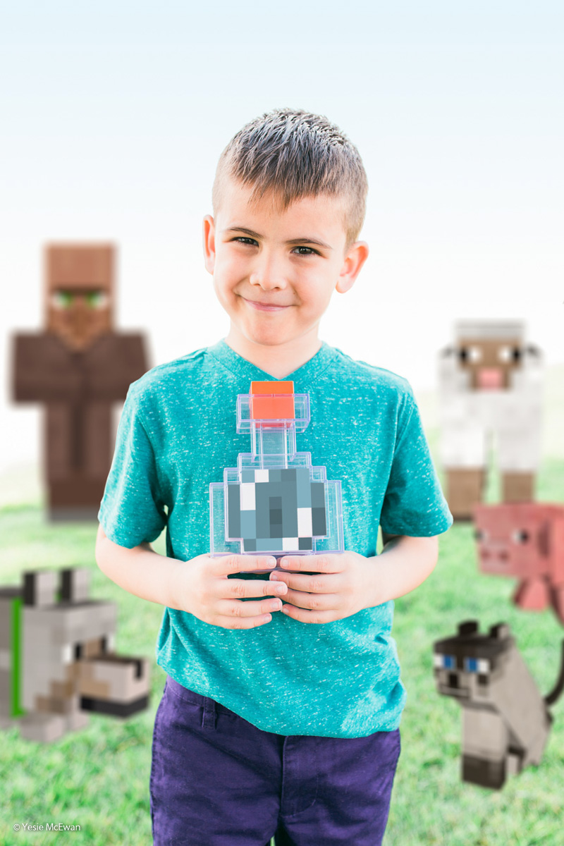 I Created A Photo Series For My Son And His Endless Love For Minecraft - via Bored Panda