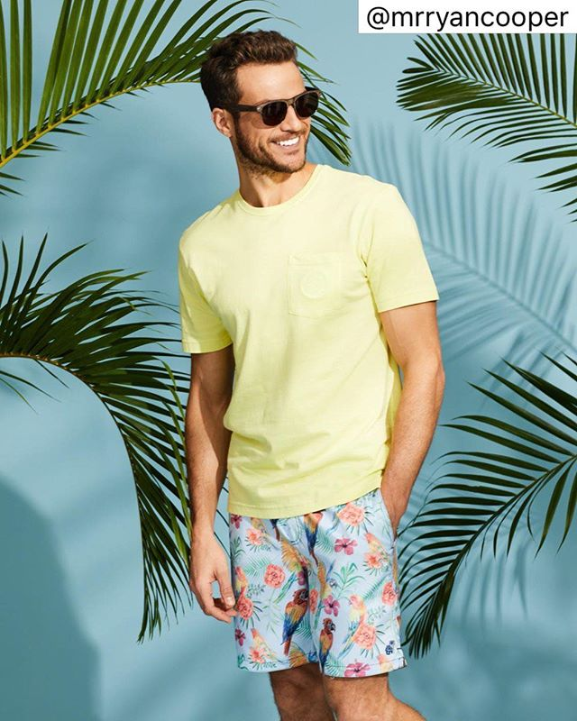 A little #tbt to our last shoot with @mrryancooper  Shop link in bio to catch his looks  #caribbeanjoe #summerstyle #beach #beachstyle #beachlife #warmweather #swim #surfshorts