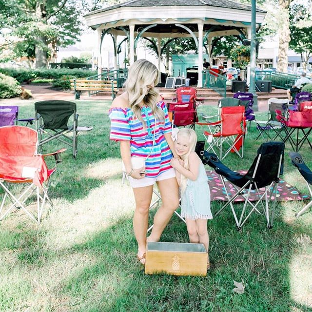 #repost @walkinginmemphisinhighheels  Squeeze every last bit out of summer this long weekend and get outside with your family! Or enjoy some music in the park like this cute fam!  Shop link in bio for mama's outfit!