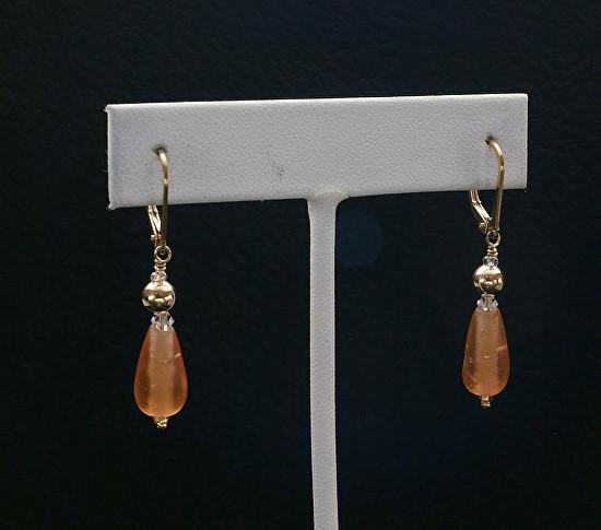 Amber Drops Earrings