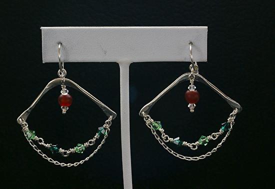Silver Swarovski Dangle Earrings