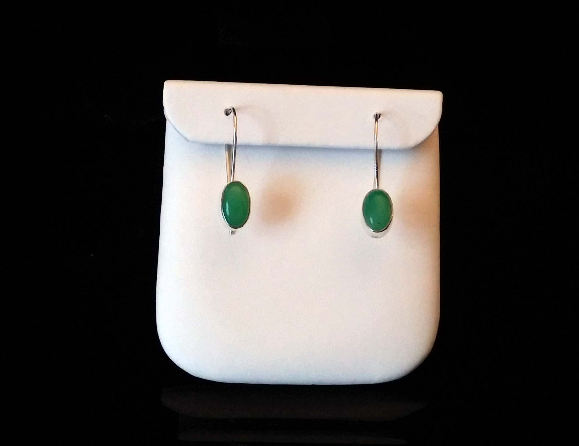 Chrysophase Earrings