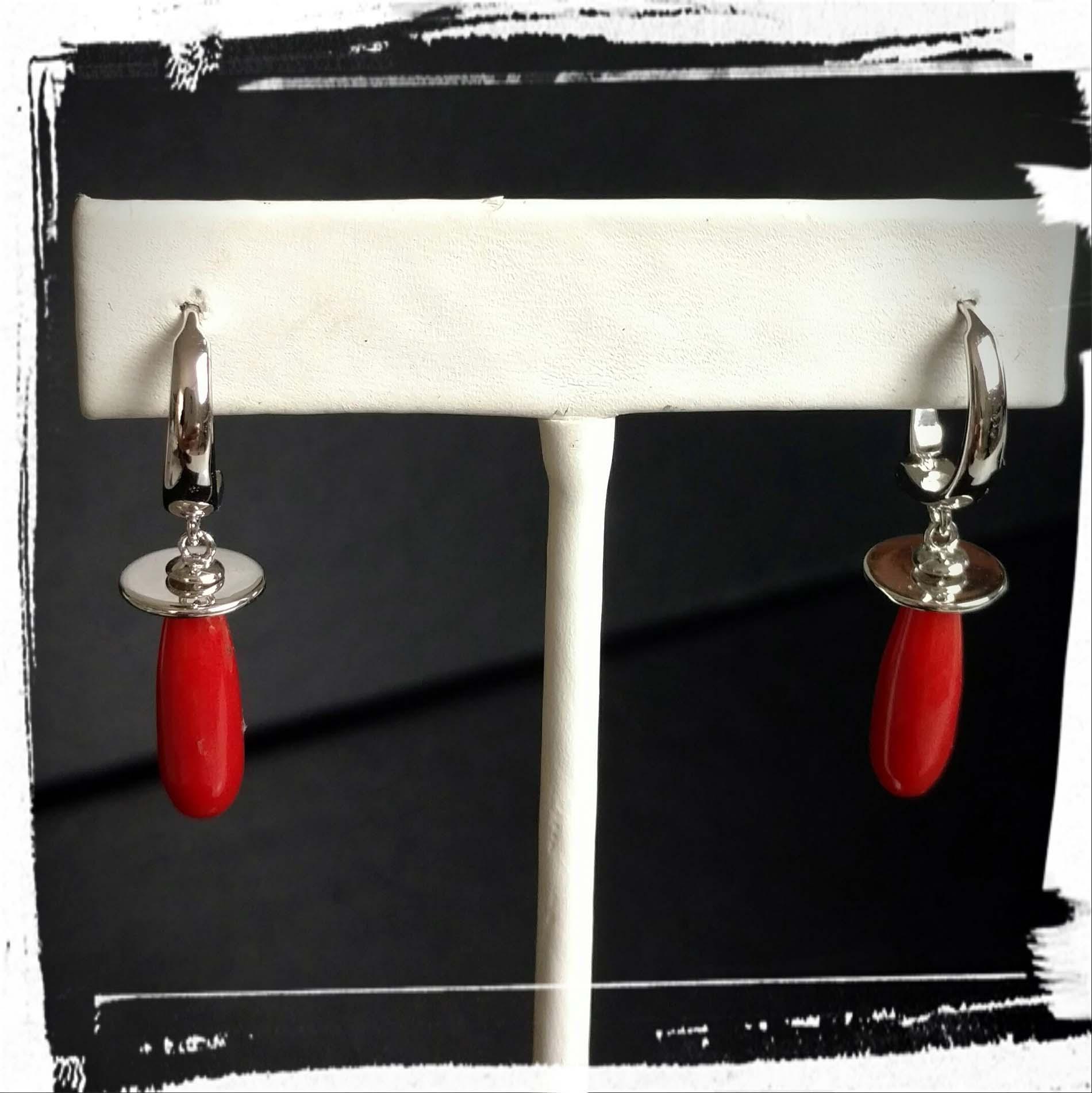 Coral Drip Earrings