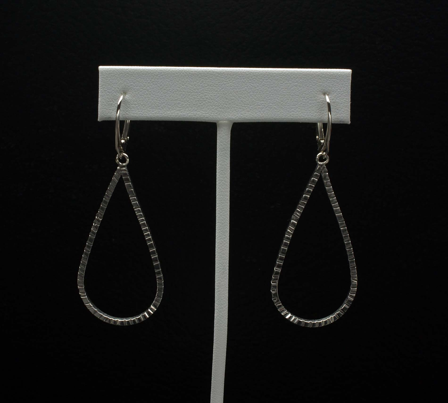 Distressed Teardrop Earrings