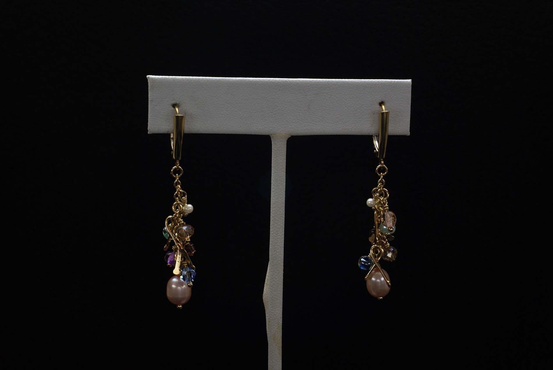 Gold Filled Beads Earrings