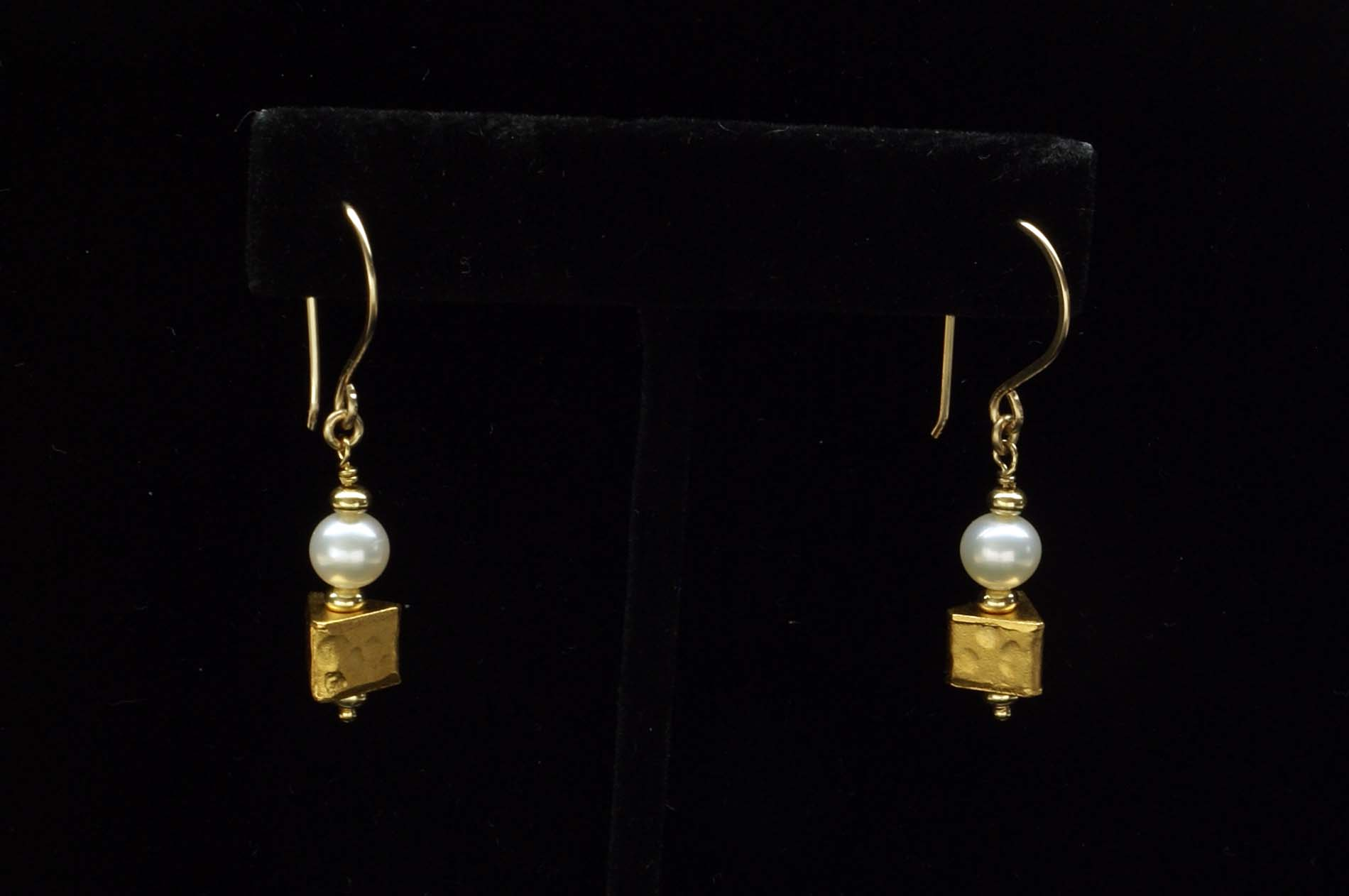 Gold Filled Pearls Earrings