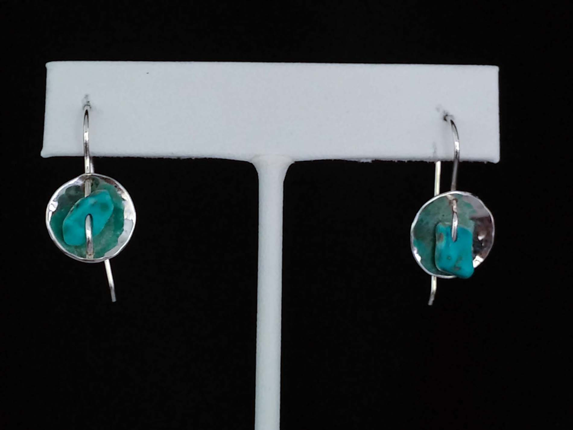 Lantern Earring with Turquoise Beads