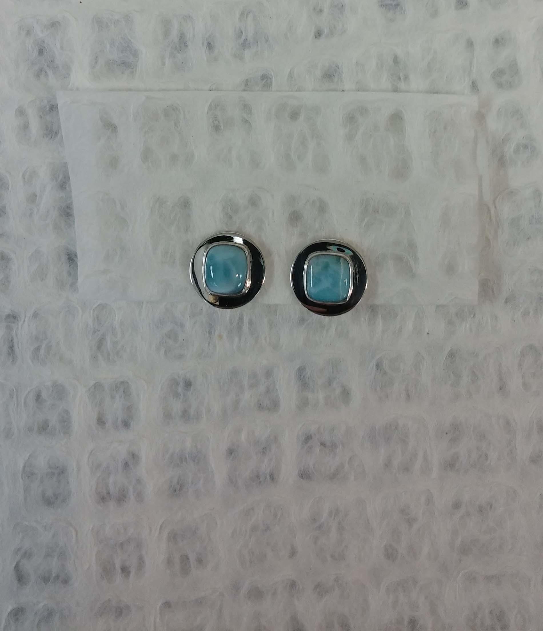 Small Larimar Earrings