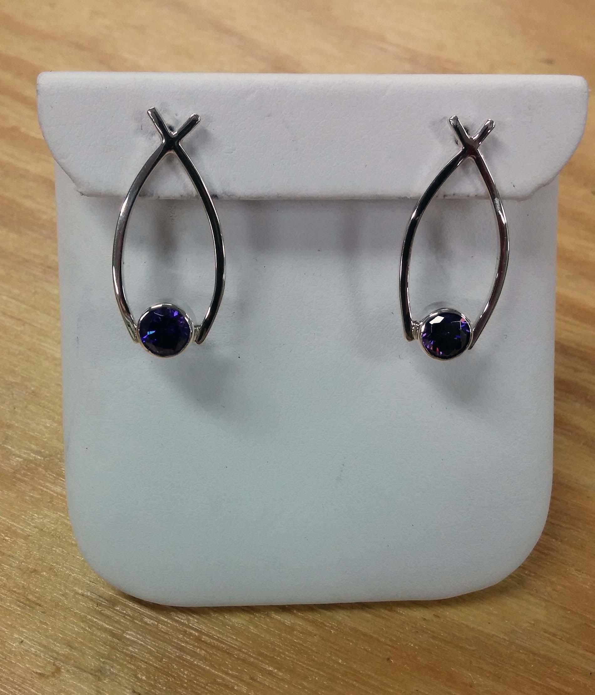 Sapphire Fish Earrings