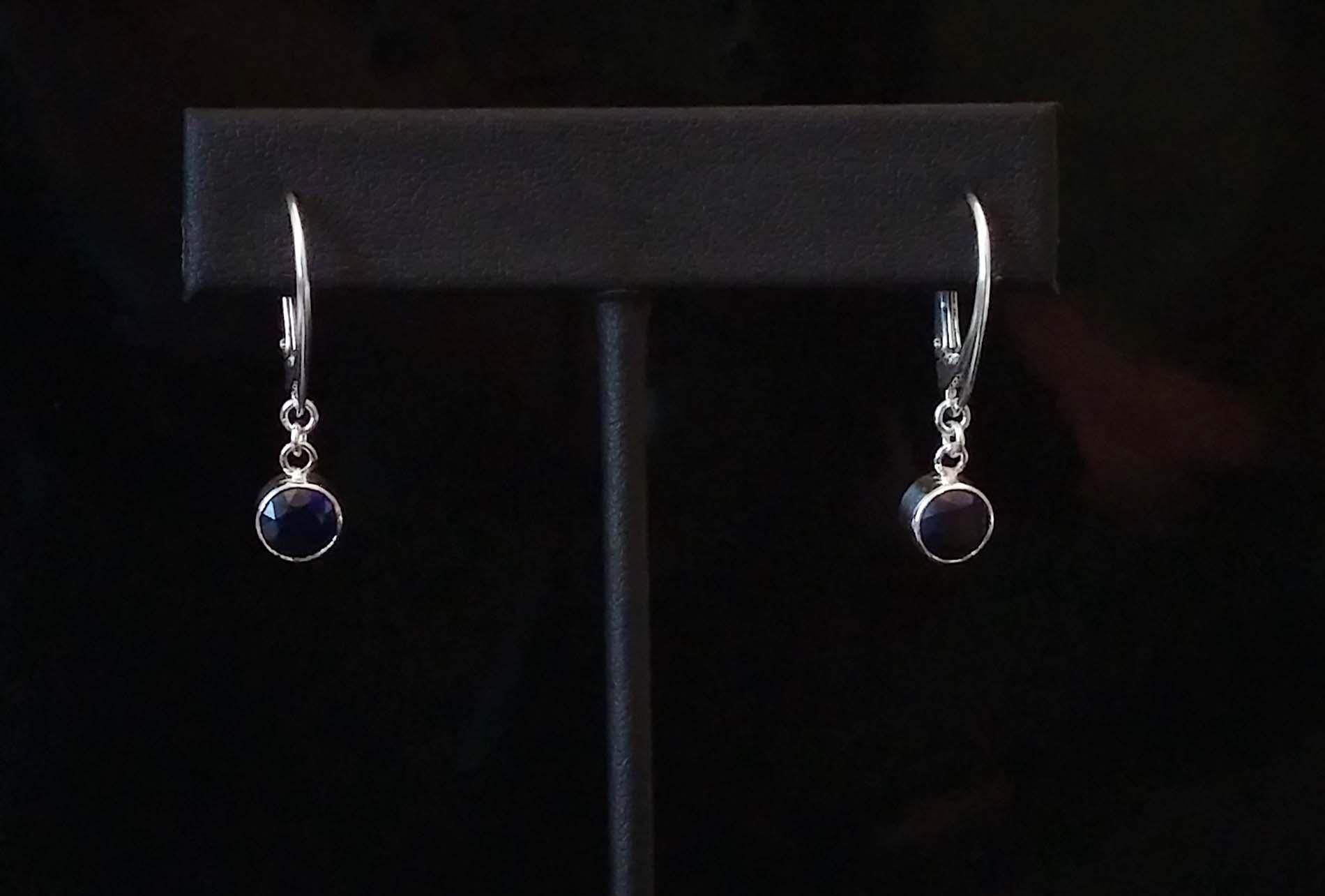 Sapphire Leverback Earrings