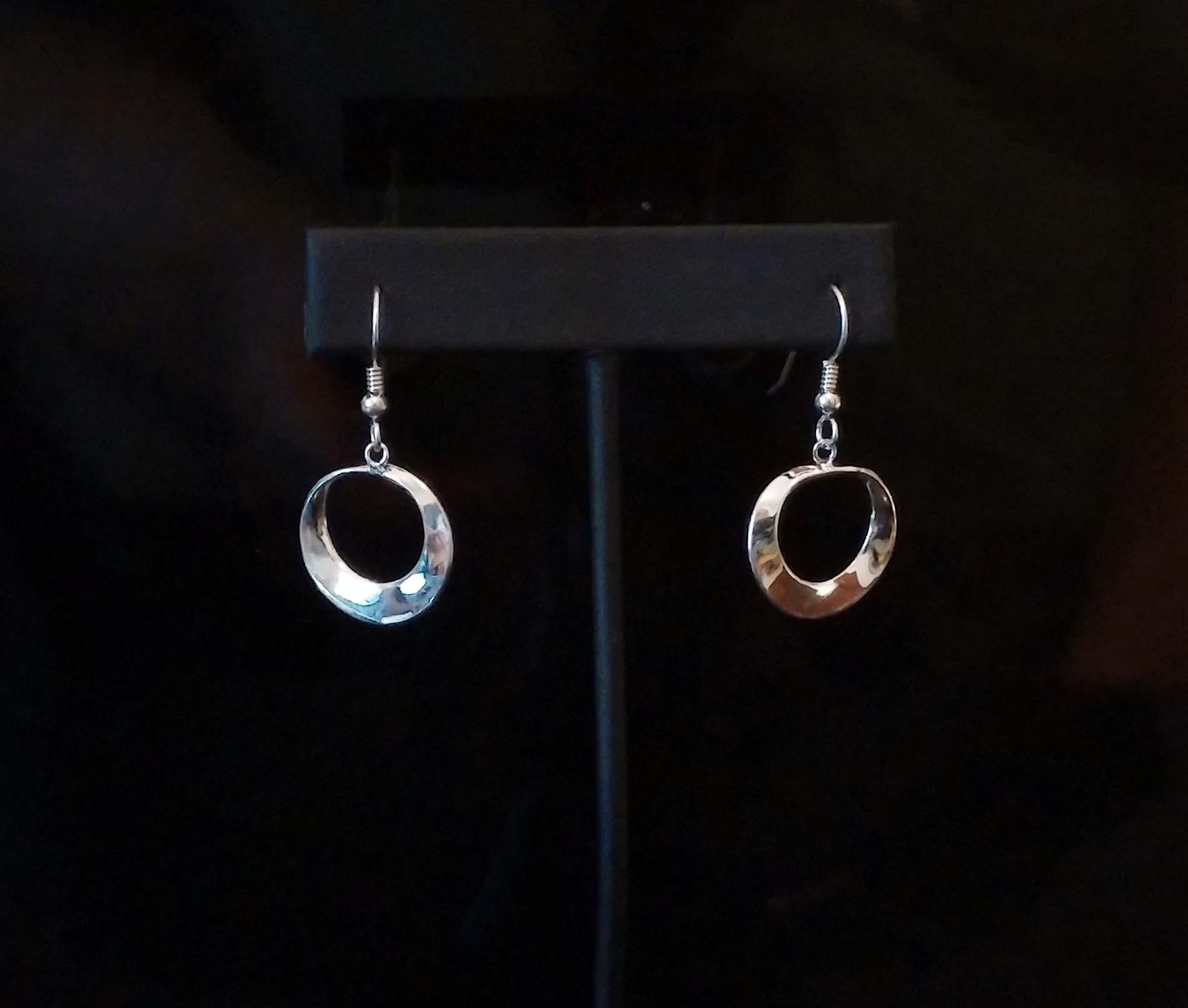 Silver Mobius Earrings