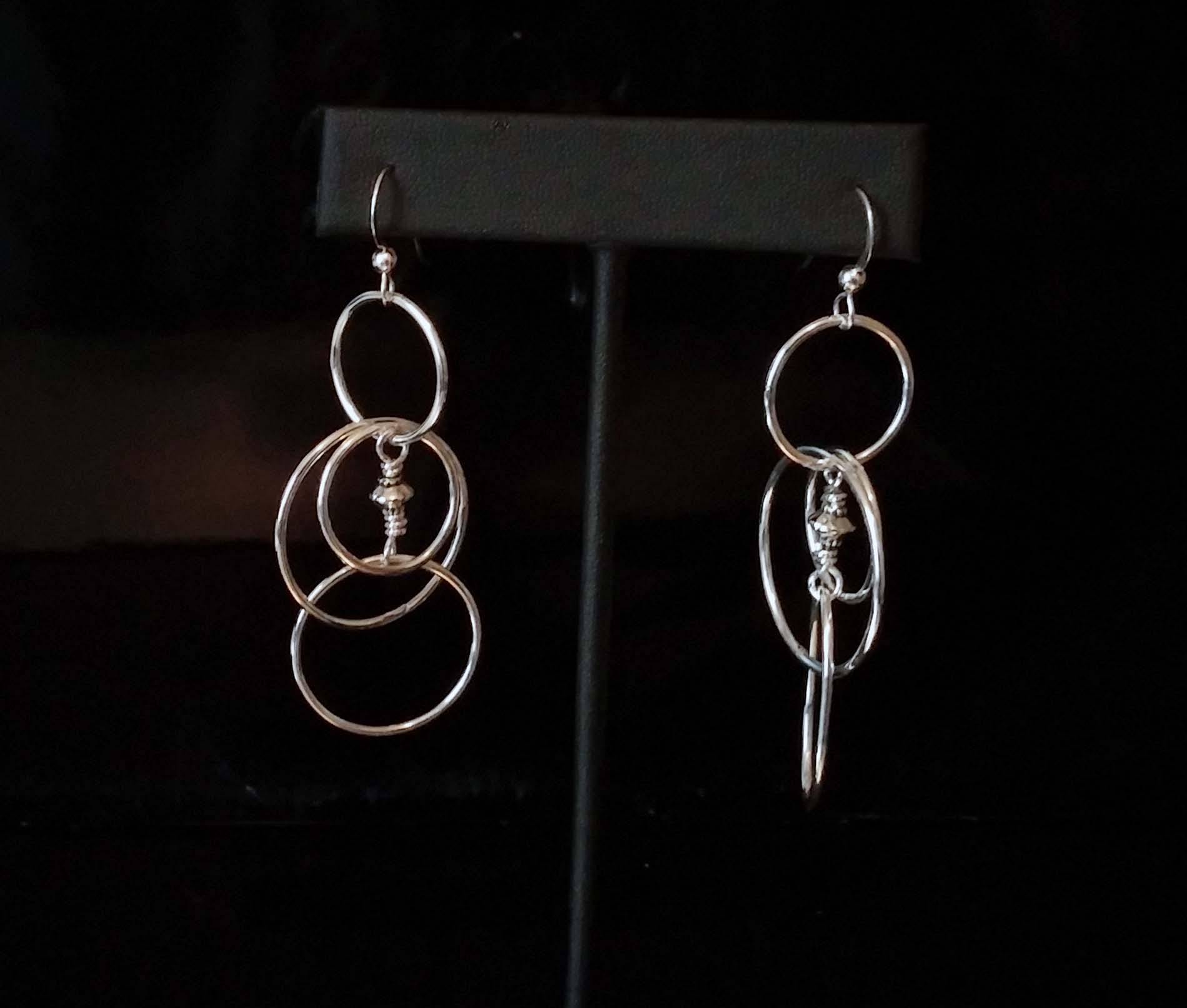 Silver Tangle Hoops