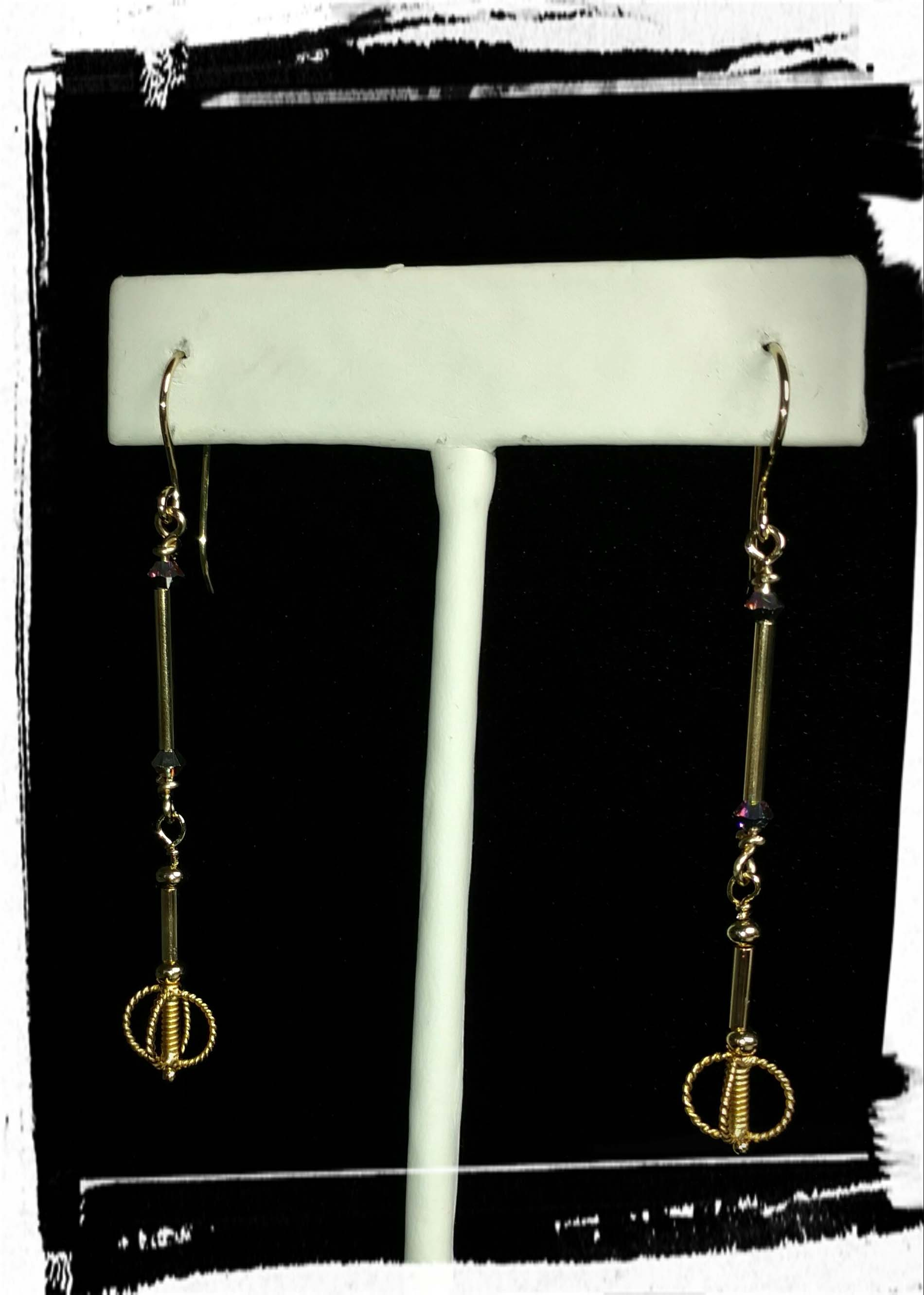 Stick and Ball Earrings