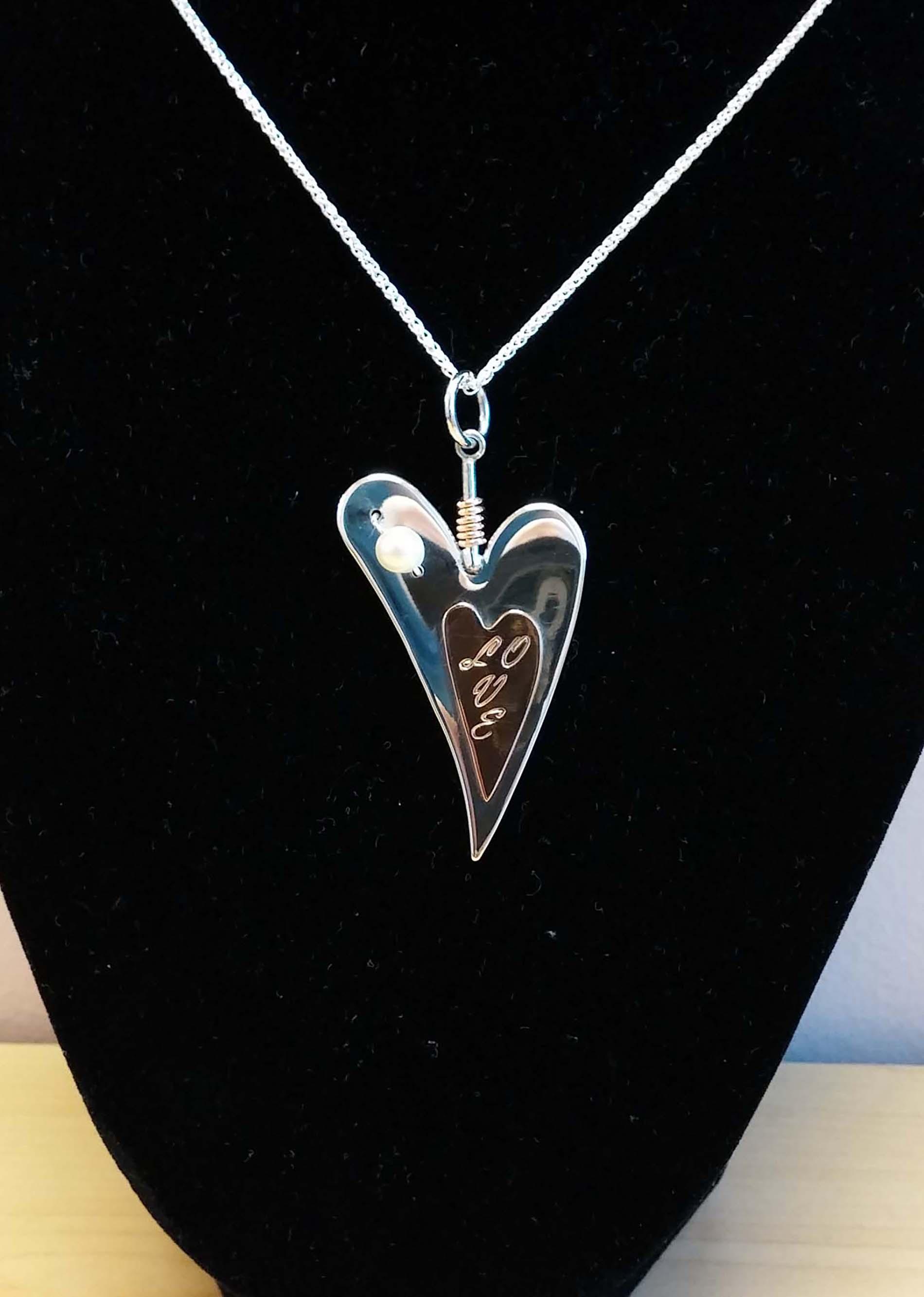 Silver Lazy Heart