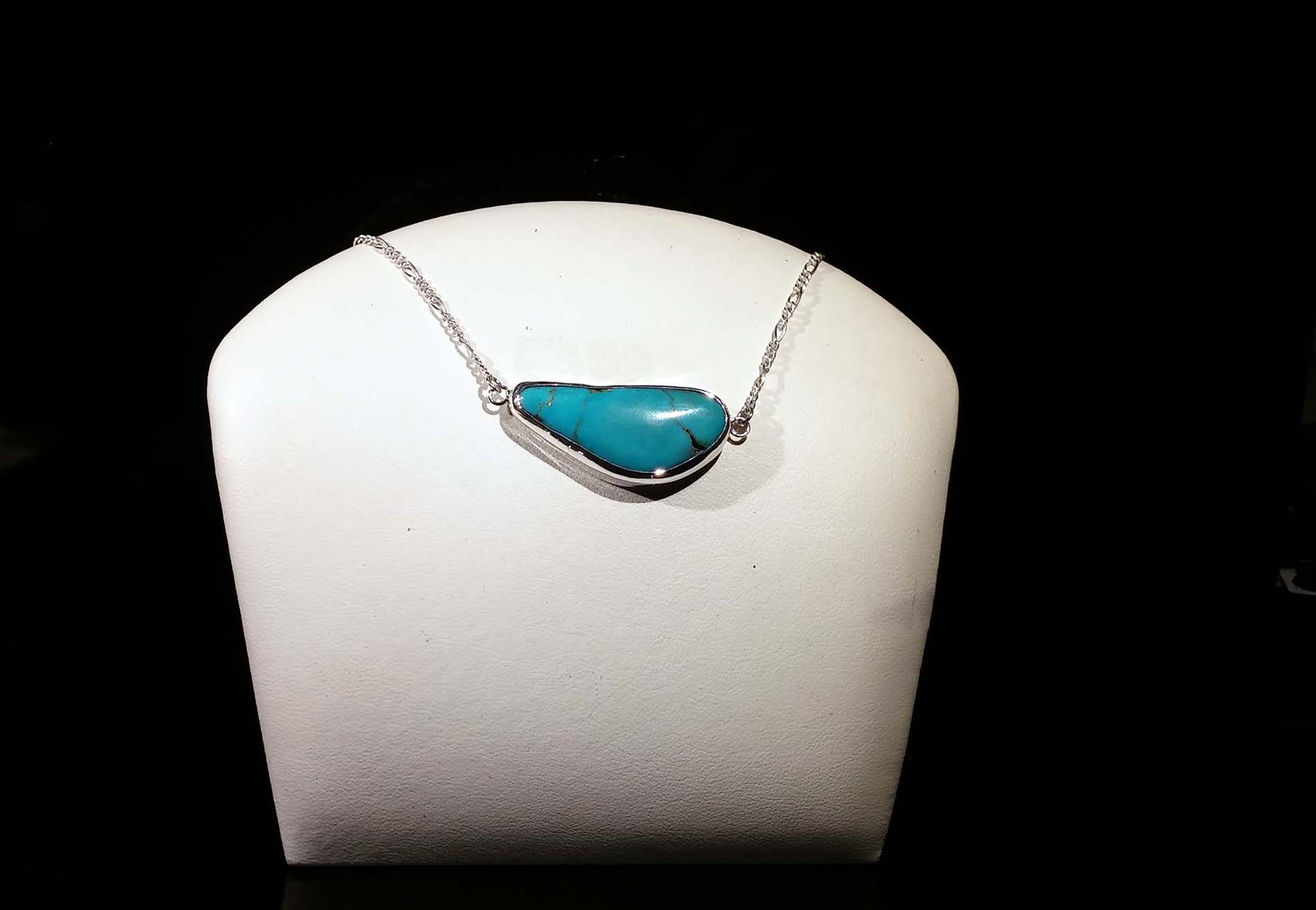 Wide Turquoise Pendant