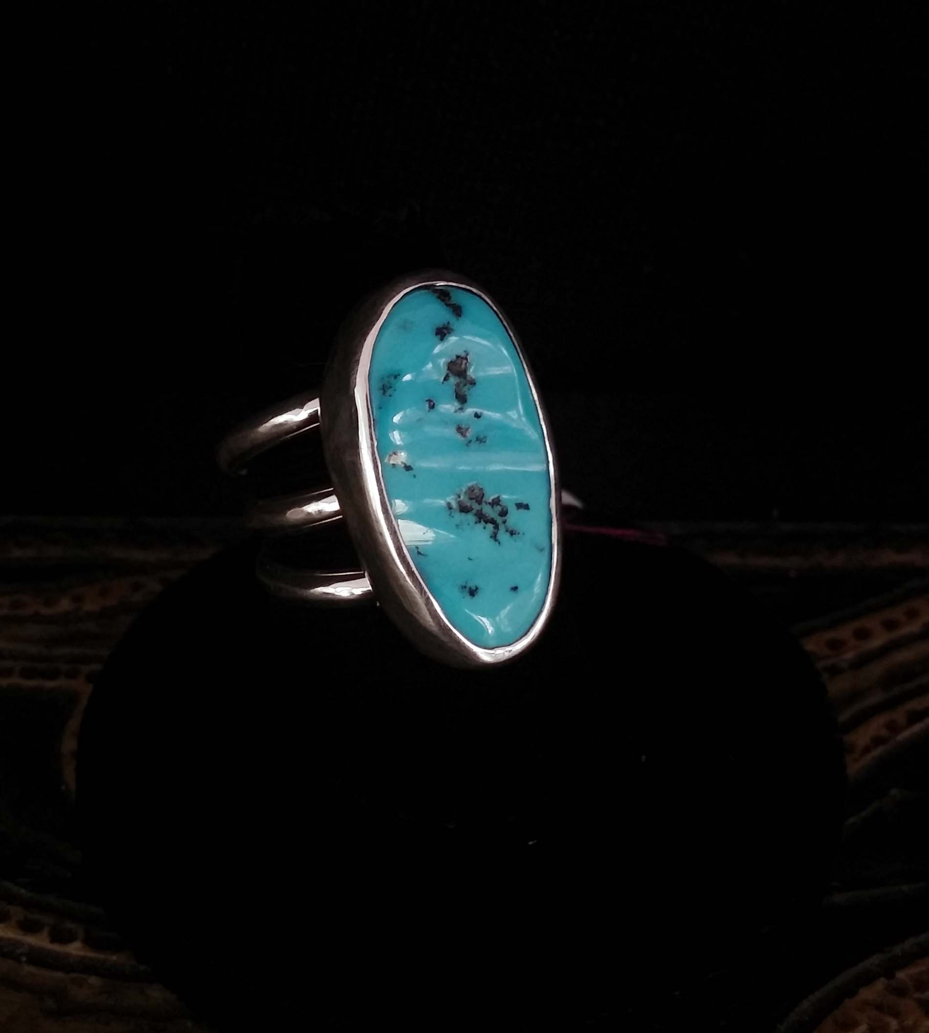 Turquoise Ring with 3 Bands