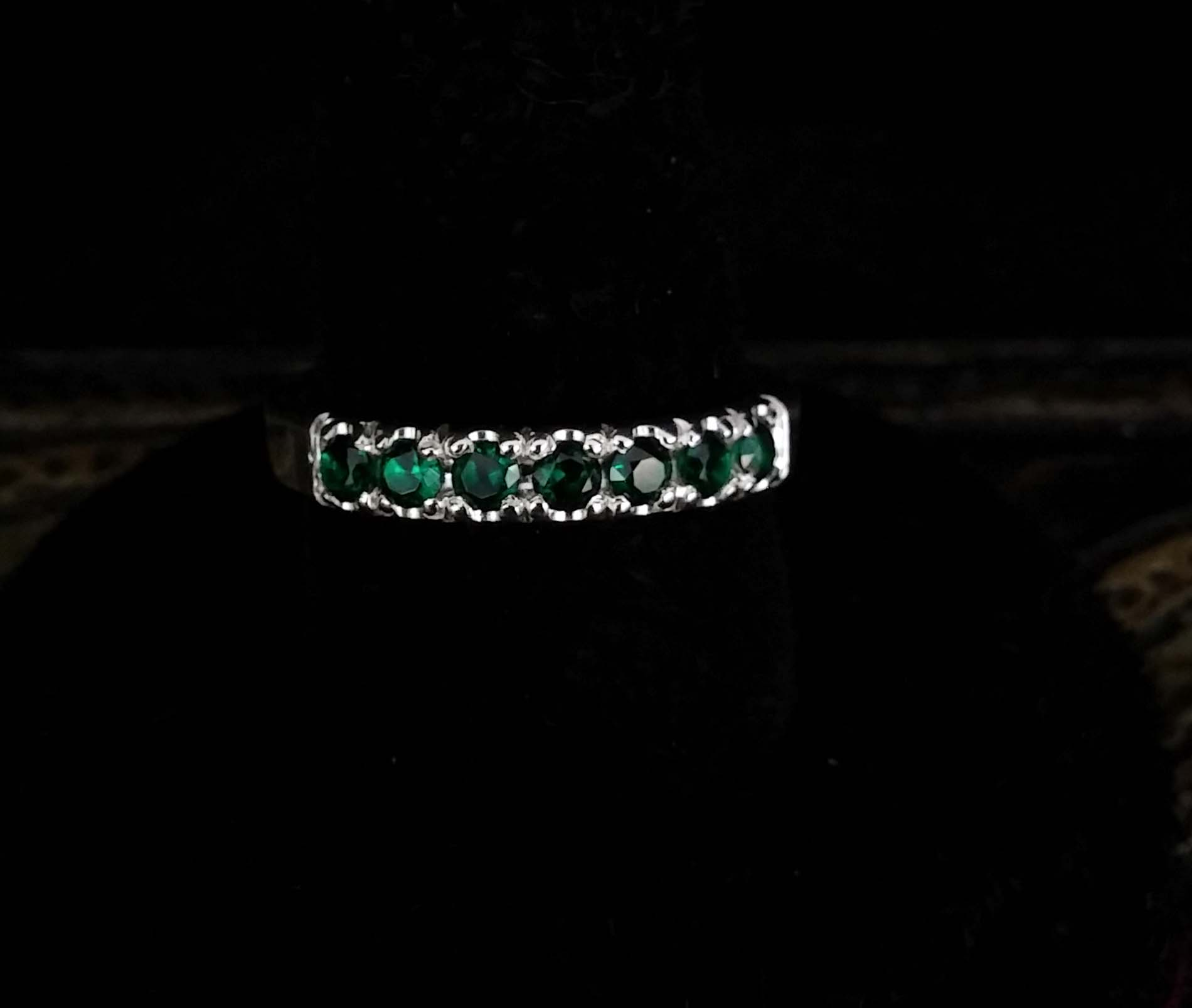 Emerald Pave Style Ring