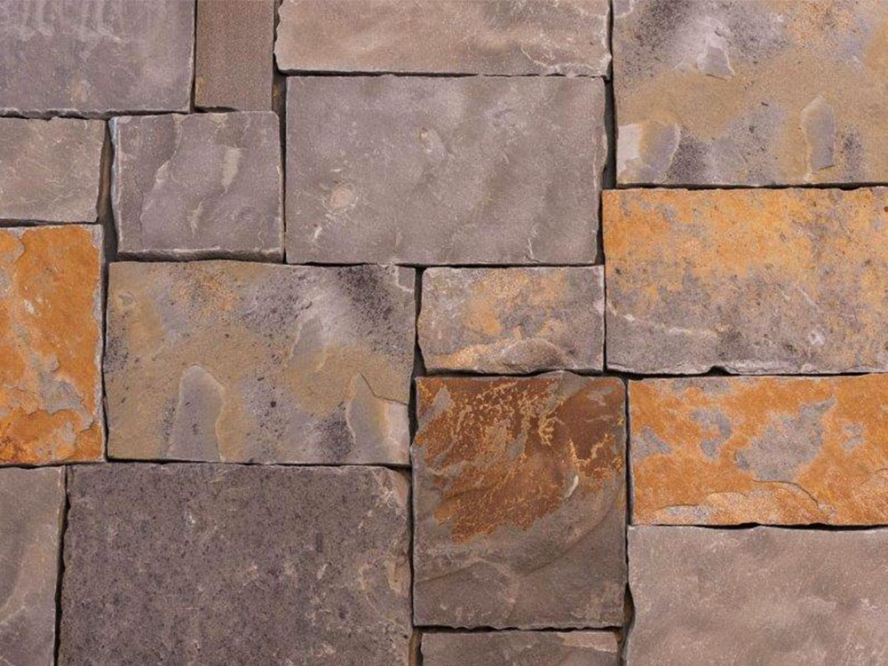 Oklahoma Sandstone - Cameron Blue Squares and Rectangles