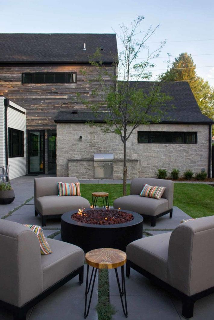 Fire Feature - Flint Hills Grey