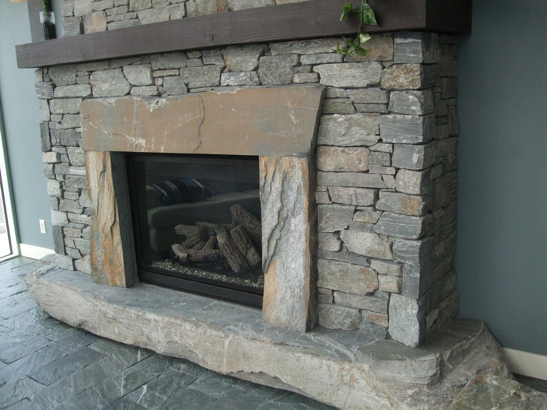 Fire Feature - Natural Ledgestone/Ocean Pearl