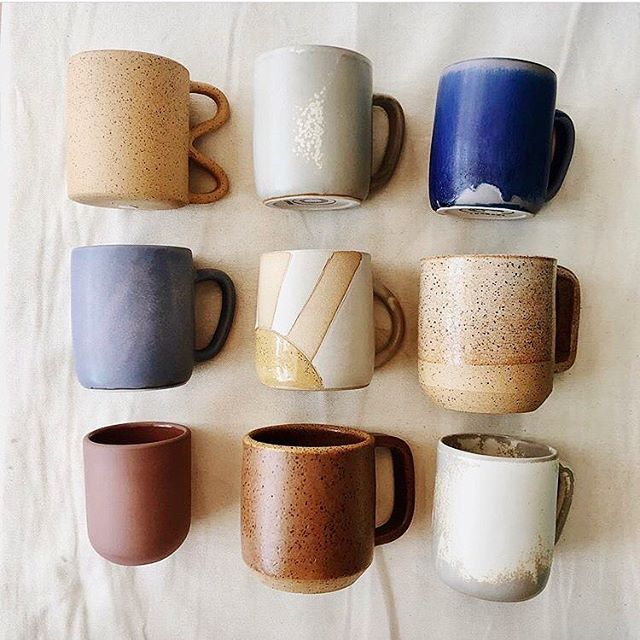May your coffee be strong and your Monday be short! • Repost from @morningtide.shop of one of my Sunrise Mugs in great company. #mugshotmonday
