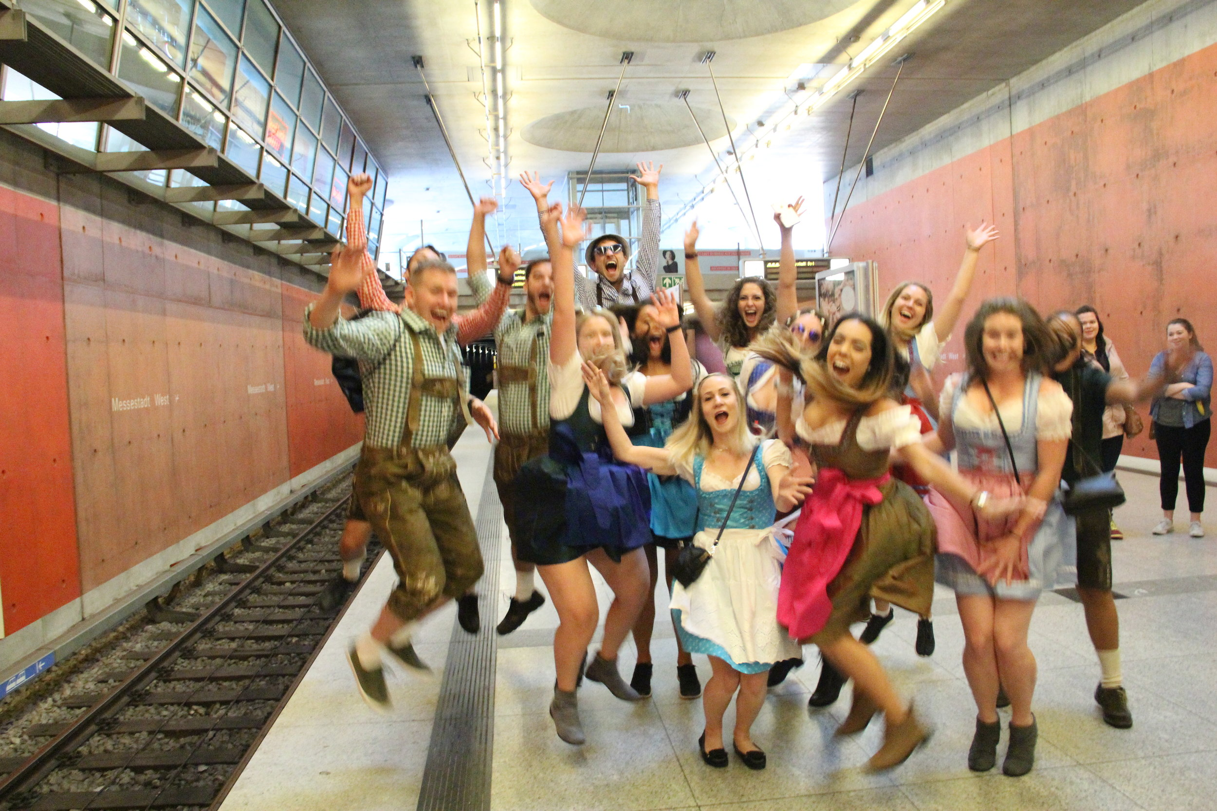 Who's ready for Oktoberfest? These guys. (Photo by Philip E.)