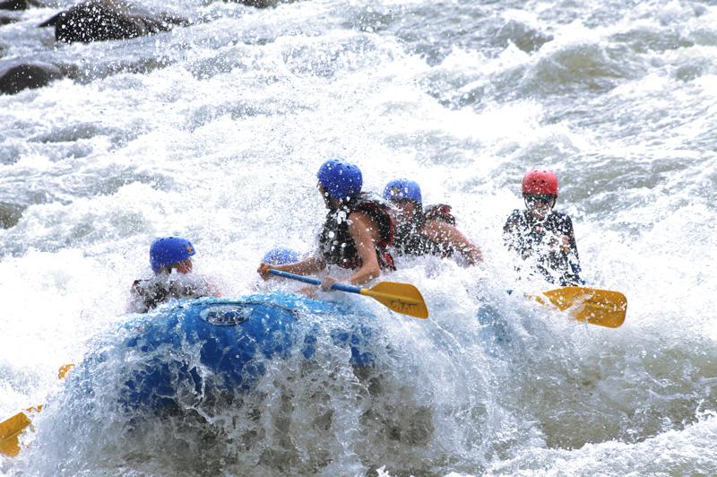 Dan's group whitewater rafting in Costa Rica.