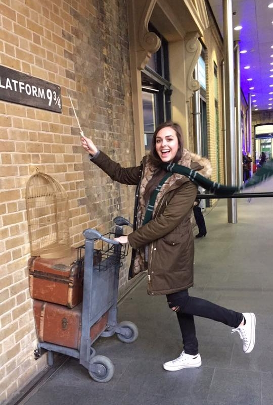 Me, casually crossing over into the wizarding world.