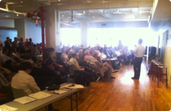 First Community Event Hosted in NYC to Organize Health Transformers - July 2011